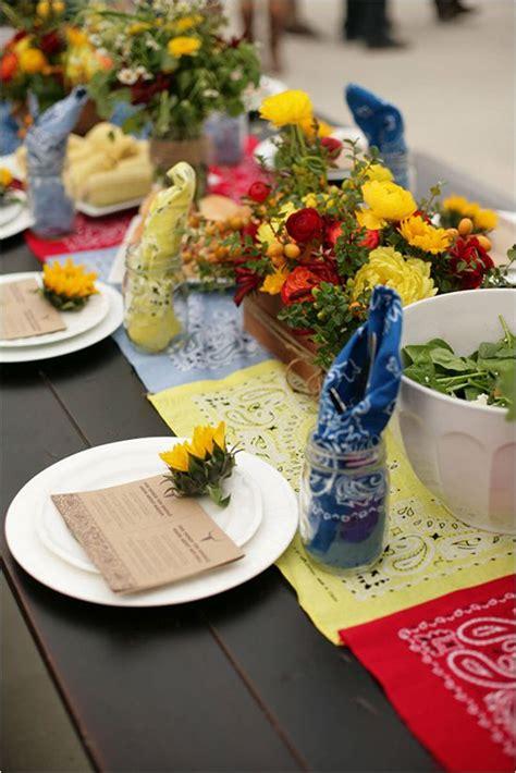 Backyard Bbq Table Centerpieces Receber Estilo