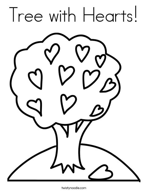 heart tree coloring page tree with hearts coloring page twisty noodle