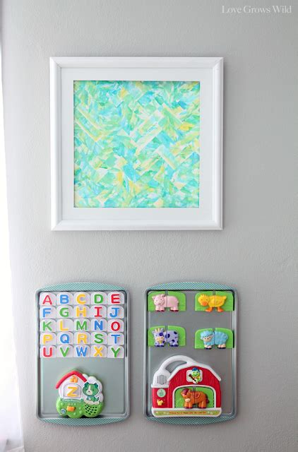 magnetic board for room playroom makeover room reveal grows