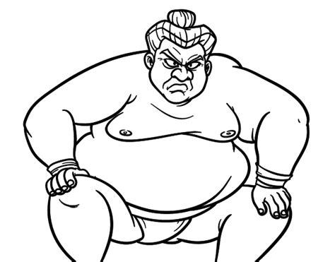 japon imagenes para colorear dibujo de luchador de sumo furioso para colorear dibujos net