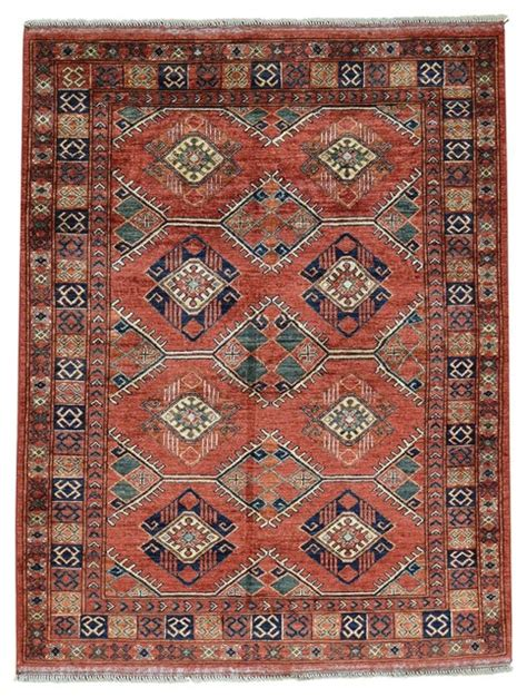 area rugs southwestern design knotted afghan ersari repetitive design wool rug southwestern area rugs by 1800