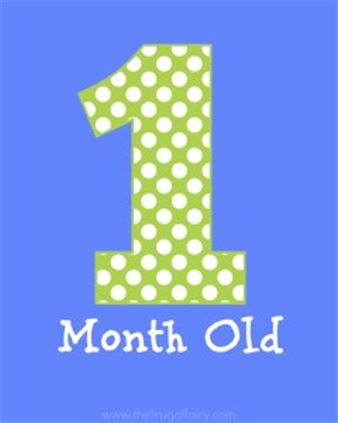 printable month numbers for baby 5 best images of 1 month old printable sign free