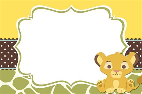 lion king baby shower invitation templates free home