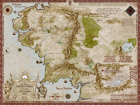 lord of the rings middle earth map middle earth map 5600 x 4200px
