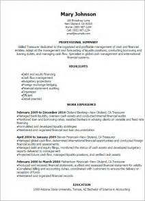 professional treasurer resume templates to showcase your
