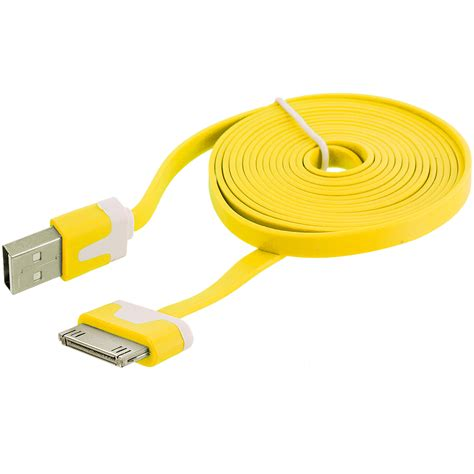 Usb Cable Iphone 4 6 ft noodle flat usb sync data cable cord 6ft for iphone 4