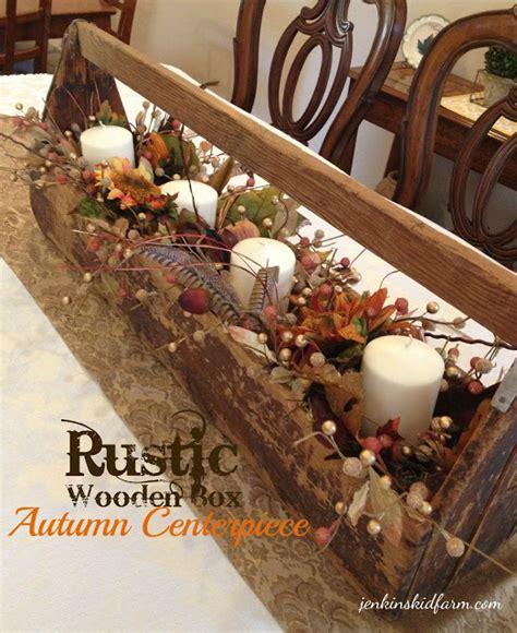 Fall Home Decor Catalogs jenkins kid farm the rustic wooden box autumn centerpiece