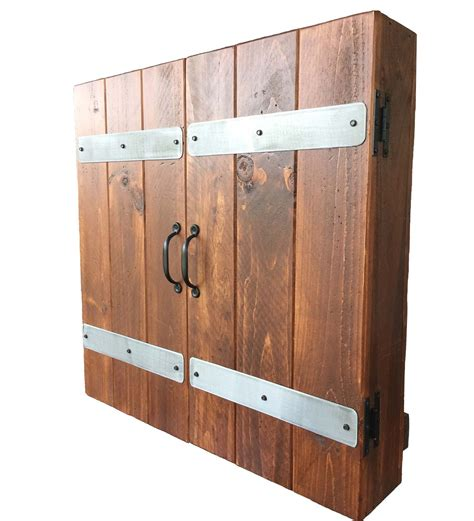 custom dart board cabinet custom reclaimed wood dart board cabinet pinteres