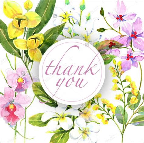 thank you card template flowers 7 floral thank you cards free sle exle format