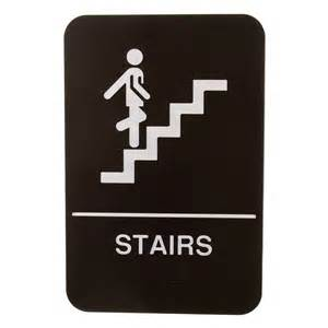 Stairs Sign by Update International S69b 8bk Quot Stairs Quot Braille Sign