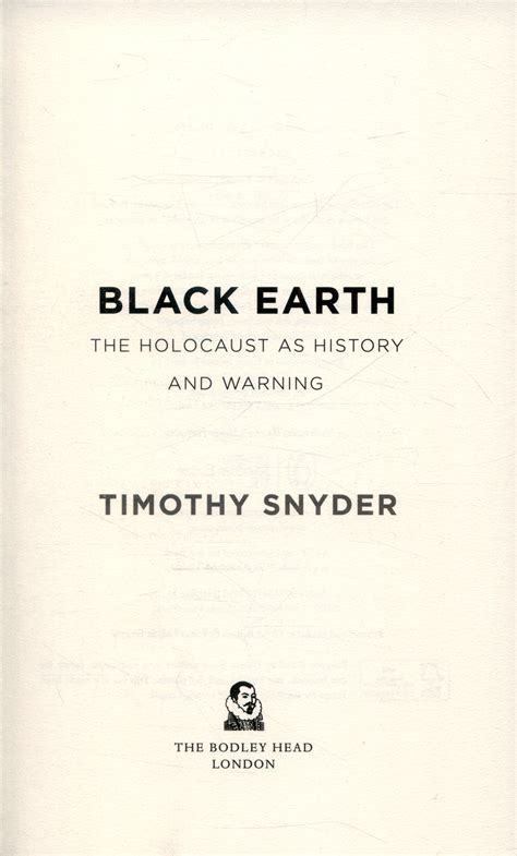 black earth the holocaust black earth the holocaust as history and warning by snyder timothy 9781847923493 brownsbfs
