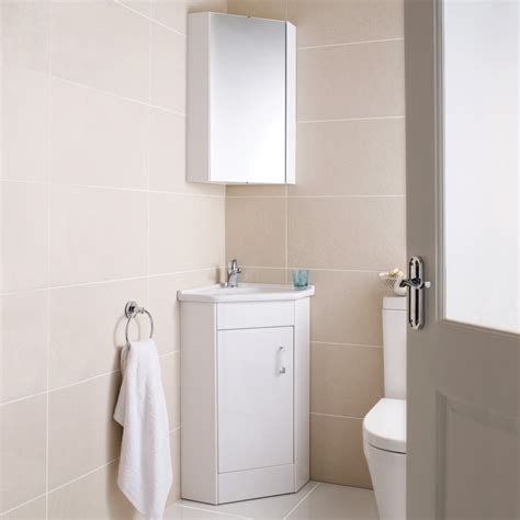 Corner Bathroom Cabinet Mirror Ultra Design Cloakroom Corner Basin Vanity Unit Corner Mirror Cabinet