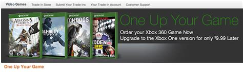 amazon xbox one trade in amazon lets you upgrade select xbox 360 games to xbox one