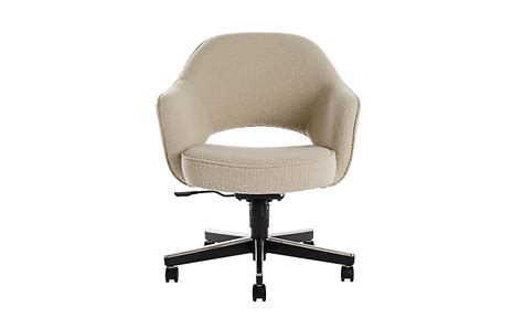 armchair with casters saarinen executive armchair with casters design within reach