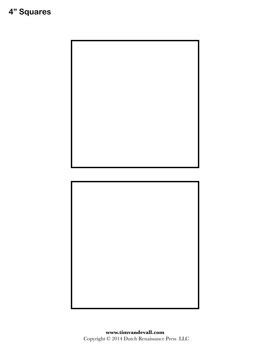 4 Square Template by Square Templates Blank Shape Templates Free Printable Pdf