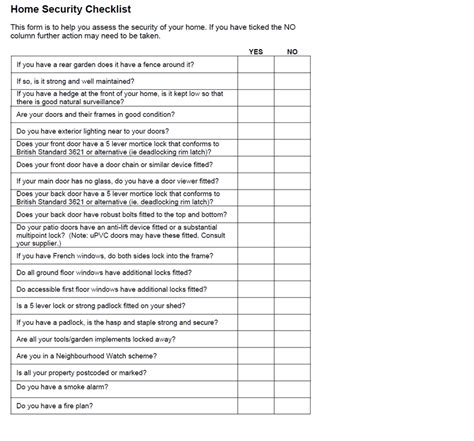home security checklist lawrenceowen neighbourhood