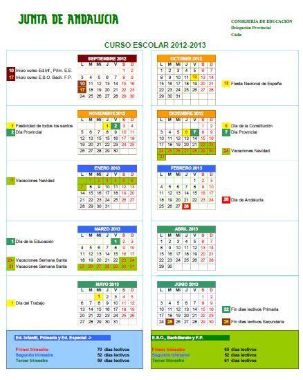 calendario escolar portal de educacin de la junta de calendario escolar 2012 13 171 orientagades blog