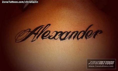 tattoo nombres en latin tattoo con el nombre de alexander tattoo pinterest