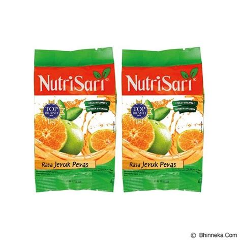 jual nutrisari jeruk peras isi 2pcs minuman serbuk rasa