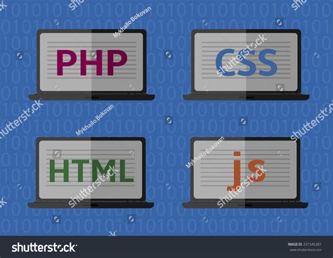 web design html css javascript web design coding and programming vector icons php html