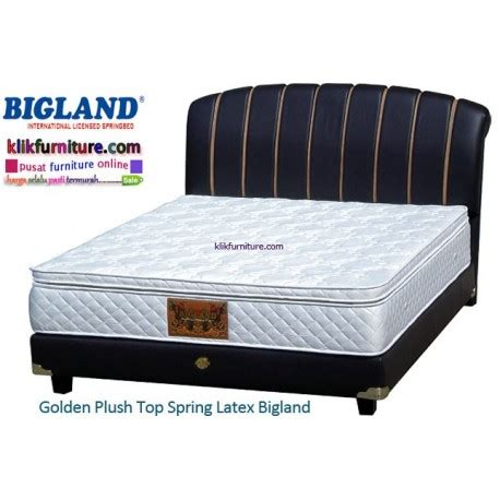 Bed Bigland Terbaru big land springbed golden plus top harga