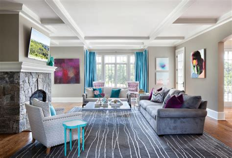 elegant  contemporary home  bold color  clean design