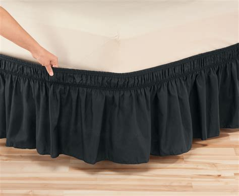 solid wrap around elastic bed skirt by oakridge comfortstm ebay