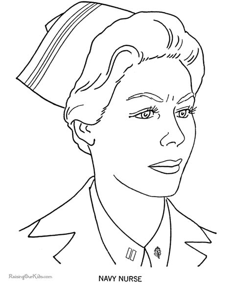 free coloring pages nurses military nurse coloring pages 009