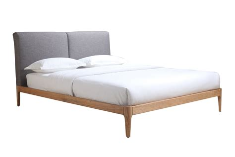 Letti Upholstered Double Bed Frame With Timber Frame Fabric Bed Frame