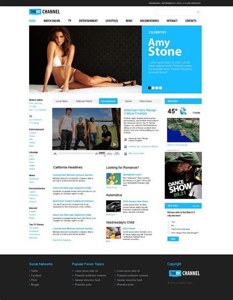 Tv Channel Website Template 31340 Tv Channel Website Templates Free