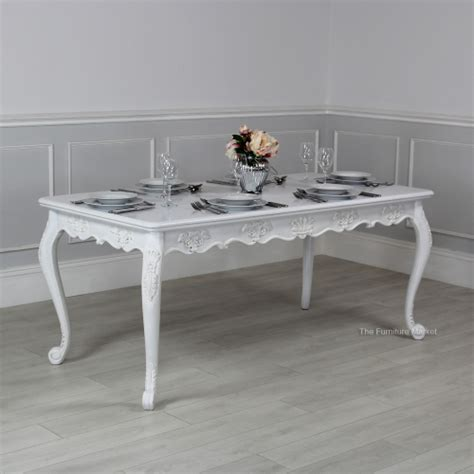 chateau white painted rectangle dining table