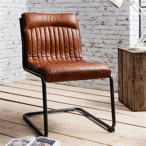 Leather And Steel Dining Chairs Brown Leather Upholstered Dining Chair Modern Dining Chairs