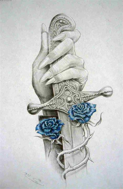 blue rose tattoo pictures collection of 25 sword and blue tattoos sketch