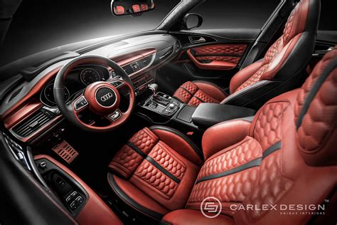 tuningcars audi a6 gets honeycomb interior from