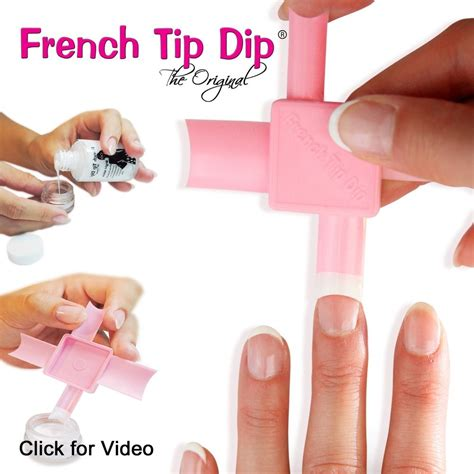 Manicure Pedicure Di Nail Plus pink tip dip manicure pedicure tool kit seen on hsn qvc today show 853895001108 ebay