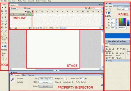 8 tutorial membuat animasi desain user interface ui pengenalan dasar macromedia flash 8