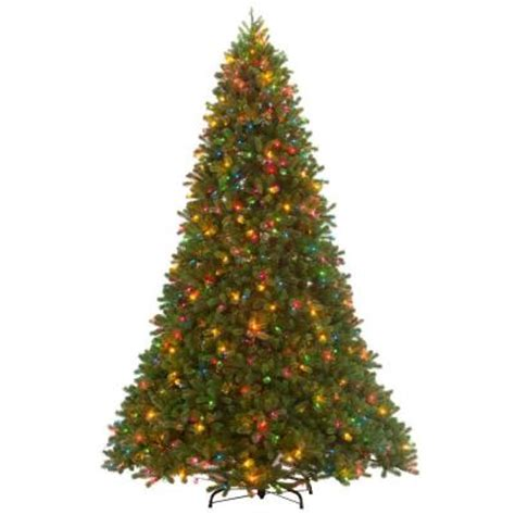 home depot 9 foot douglas fir artificial treee 12 ft feel real downswept douglas fir artificial tree with 1200 multi color lights