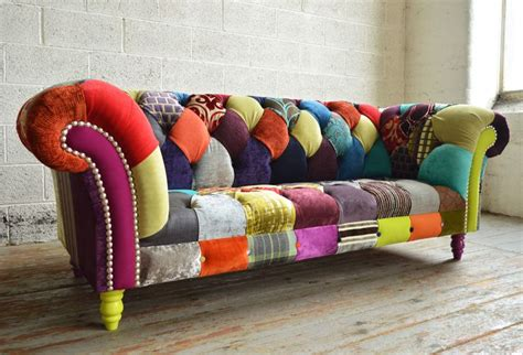 Chesterfield Patchwork Sofa - 17 best ideas about multicoloured sofas on