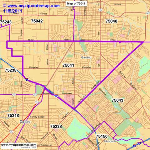 zip code map of 75041 demographic profile residential