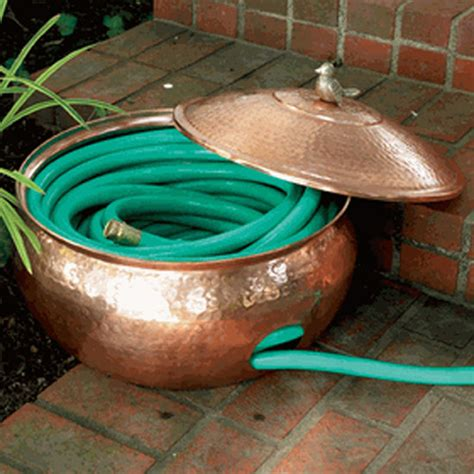 Copper Garden Decor Copper Garden Hose Hider Eclectic Outdoor Decor Atlanta By Iron Accents