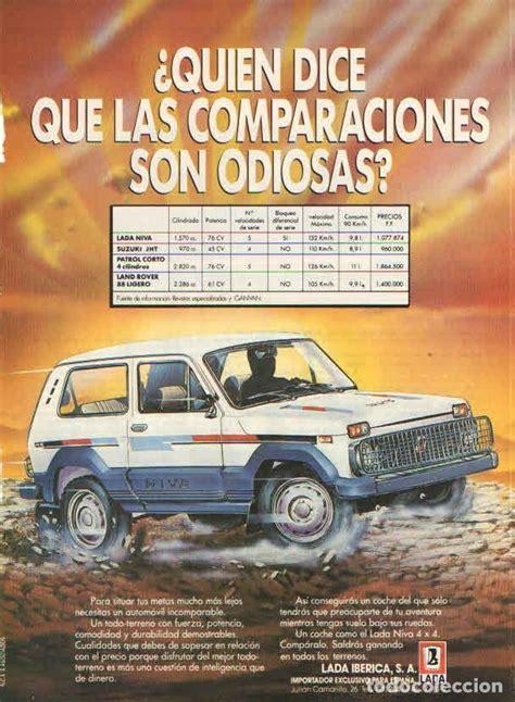 lada libro lada niva anuncio publicidad 1986 comprar cat 225 logos