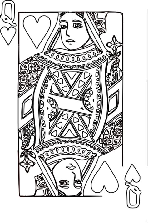 coloring page queen of hearts queen of hearts coloring page 3 clip art at clker com