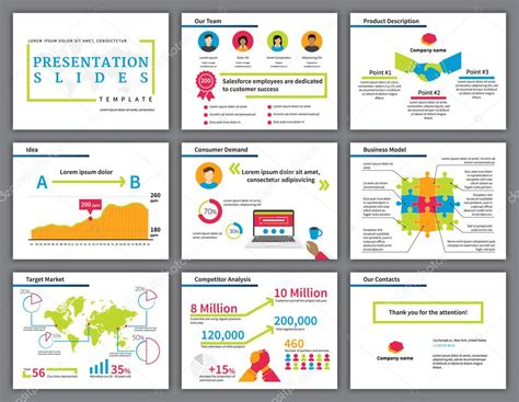 business colourful infographics presentation slides
