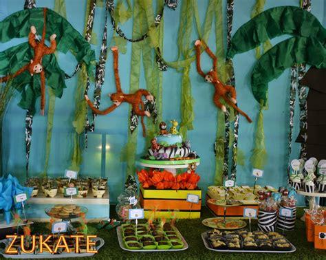 como decorar un salon de selva fiesta de la selva para santino zukate