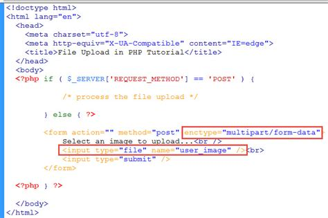 php tutorial to upload image file upload in php tutorial learn web tutorials