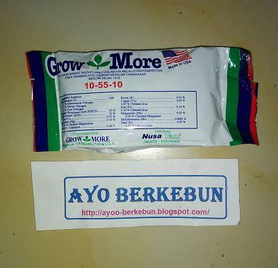 Pupuk Growmore Untuk Bunga jual pupuk grow more murah ayo berkebun