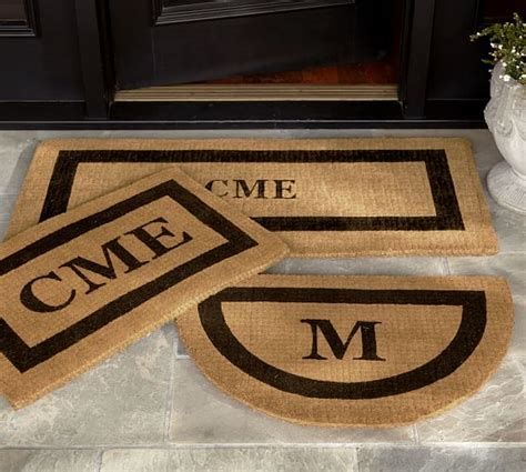 Monogrammed Door Mats by Monogrammed Doormat Pottery Barn