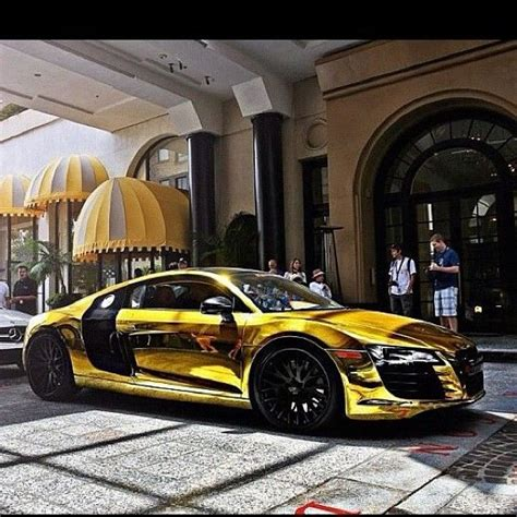 audi r8 gold gold chrome audi r8 dream cars pinterest