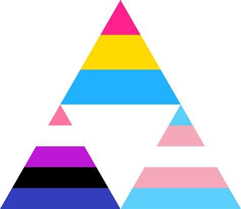 pansexual genderfluid trans triforce  pride flags