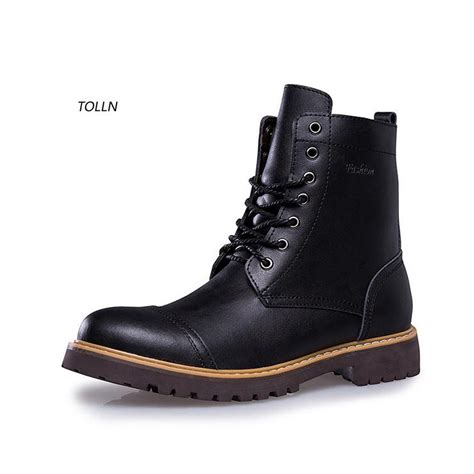 best casual boots fashion winter leather dr martin boots fur martin high top
